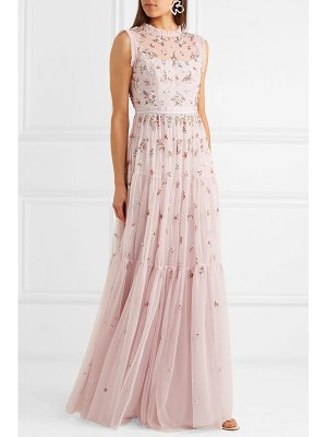 Needle & Thread rainbow ditsy embellished tulle gown