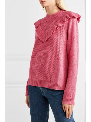 Needle & Thread ruffled knitted sweater