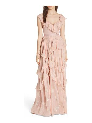 Needle & Thread ruffled lurex butterfly gown