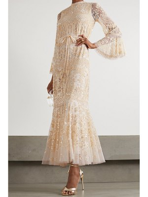 Needle & Thread snowdrop sequin-embellished tulle gown