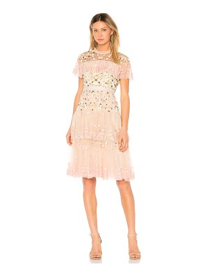 NEEDLE & THREAD Tiered Anglais Mini Dress