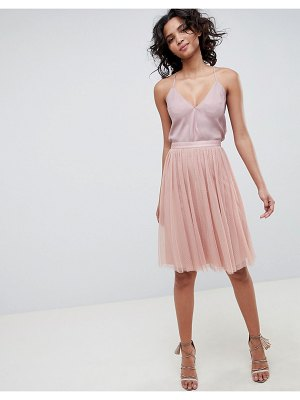 Needle & Thread tulle skirt in vintage rose-pink