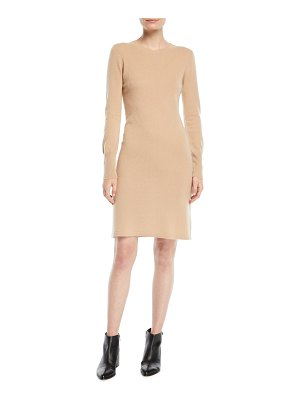 Neiman Marcus Cashmere Collection Cashmere Long-Sleeve Sweater Dress