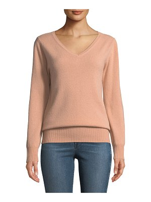 Neiman Marcus Cashmere Collection Cashmere Relaxed V-Neck Sweater