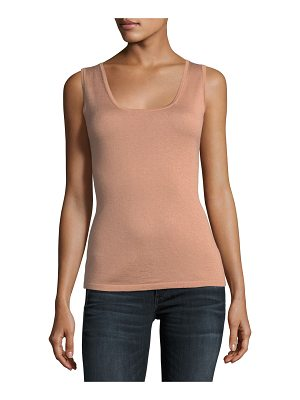 NEIMAN MARCUS CASHMERE COLLECTION Cashmere Scoop-Neck Tank
