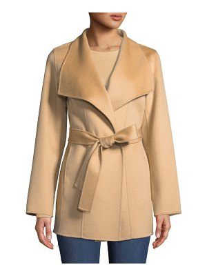 Neiman Marcus Cashmere Collection Luxury Double-Faced Cashmere Mid-Length Wrap Coat