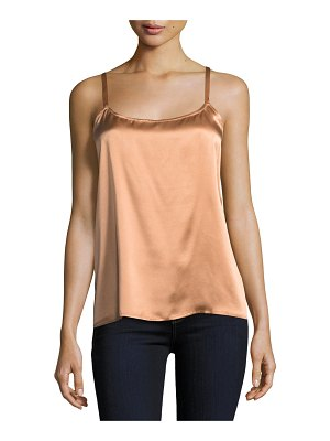Neiman Marcus Cashmere Collection Silk Camisole Top