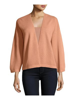 NEIMAN MARCUS CASHMERE COLLECTION Silk/Cashmere Ottoman Knit Cardigan