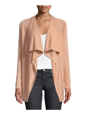 Neiman Marcus Cashmere Collection Superfine Cashmere Drape-Collar Cardigan