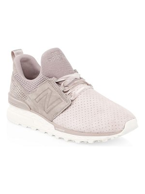 New Balance 574 lace-up leather sneakers