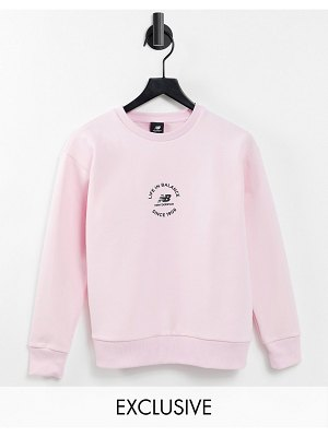 New Balance 'life in balance' sweatshirt in pink