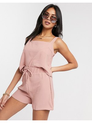 New Girl Order two-piece drawstring beach shorts in rose pink