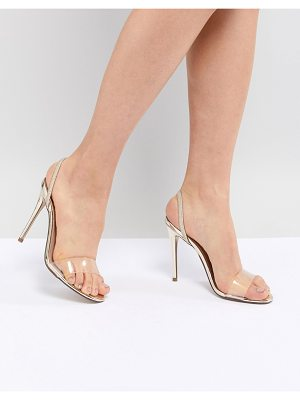 New Look acrylic vamp sling back heeled sandal