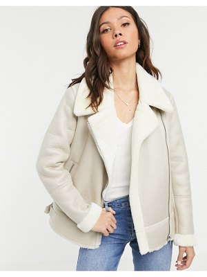 New Look aviator jacket in cream