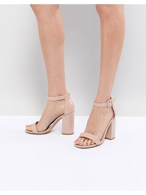 New Look barely there patent block heel sandal