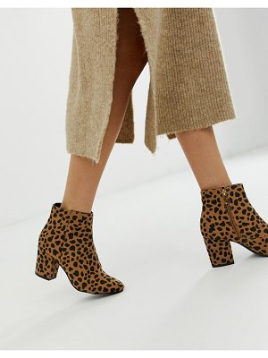New Look block heel boot in cheetah print