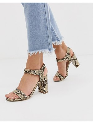 New Look block heel sandal in snake
