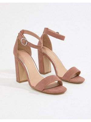 New Look block heeled sandals-pink