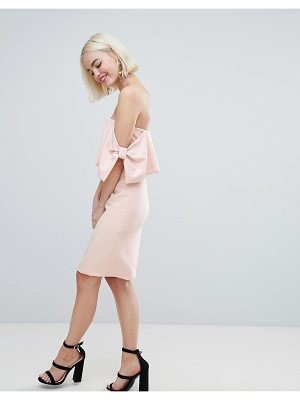 New Look bow sleeve midi dress
