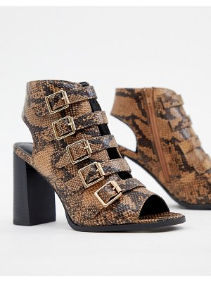 New Look buckle detail snake heeled sandal