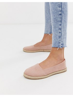 New Look canvas espadrille in oatmeal-cream