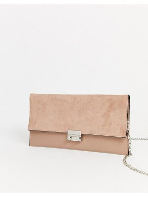 New Look clutch bag in cream