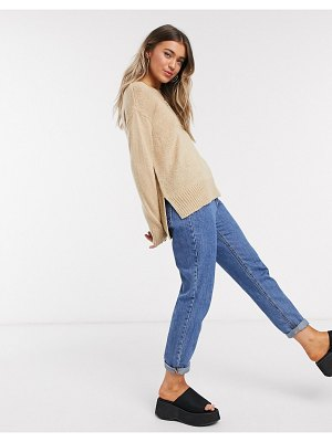 New Look crew neck sweater in camel-tan