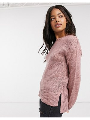 New Look crew neck sweater in pink