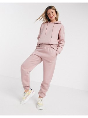 New Look cuffed jogger in pale pink