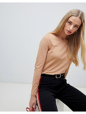 New Look top with long sleeves in camel