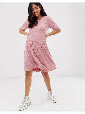New Look smock dress in pink pattern