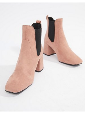 New Look square toe heeled boot
