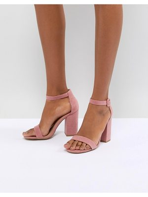 New Look suedette block heel sandal