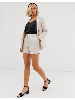 New Look tailored shorts in stone two-piece