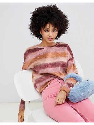 New Look textured sweater in stripe