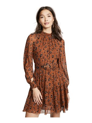 Nicholas high neck button mini dress