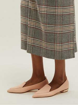 Nicholas Kirkwood Beya Point Toe Grained Leather Loafers