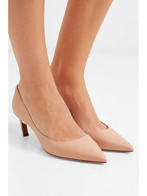 Nicholas Kirkwood mira faux pearl-embellished leather pumps