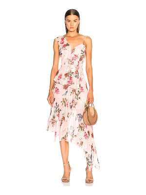 NICHOLAS One Shoulder Frill Dress