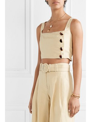 Nicholas open-back cropped linen top