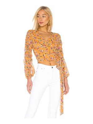 Nicholas pintuck wrap top