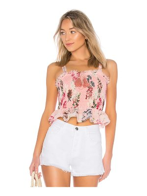 NICHOLAS Shirred Crop Top