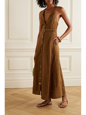Nicholas yasmine linen maxi dress