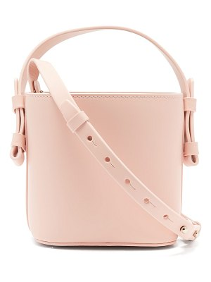 Nico Giani Adenia Mini Matte Leather Bucket Bag