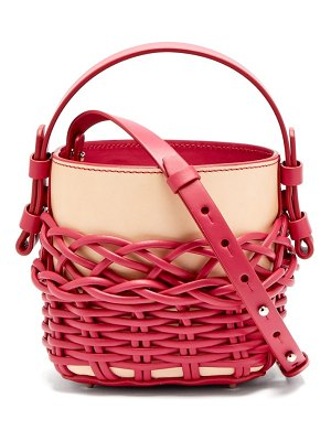 Nico Giani adenia mini woven leather bucket bag