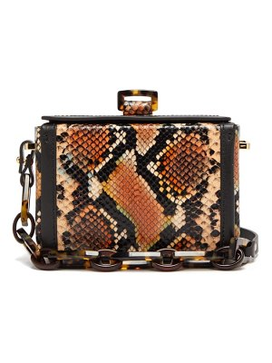 Nico Giani cerea mini python effect leather box bag