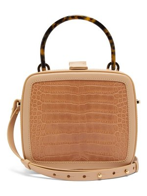 Nico Giani tunilla crocodile embossed leather box bag
