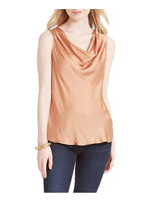 Nic+Zoe destination crinkle cowl neck top