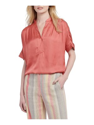Nic+Zoe destination short sleeve blouse
