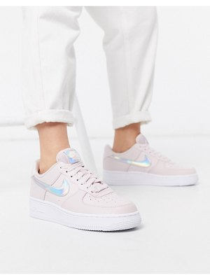 Nike air force 1 '07 sneakers in pink with iridescent swoosh
